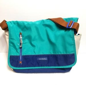 Vera Bradley Green Blue Messenger Laptop bag